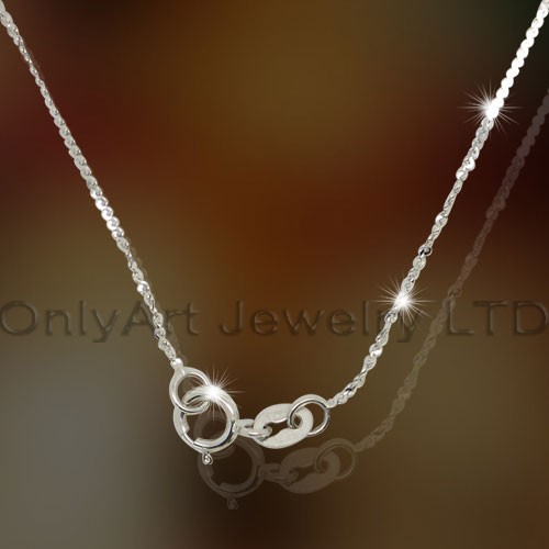 OAN0013 collier en argent sterling Lady