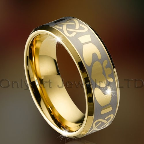 jewelry de carbure de tungstène pour le ring 18KGP