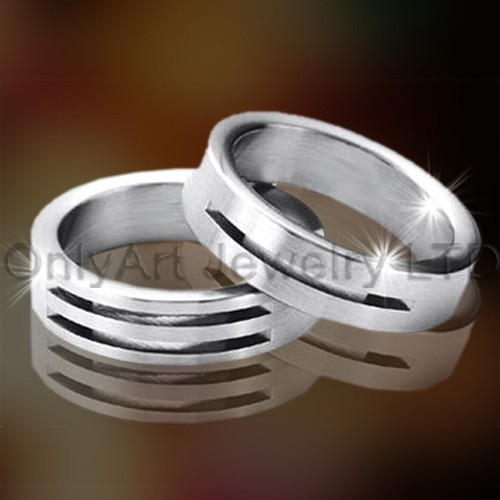 Acier inoxydable Couple Ring Set OATR0255